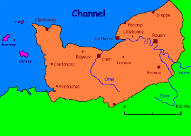 normandy france map